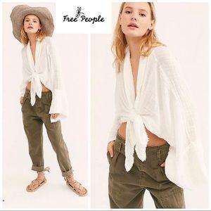 Free People One Azalea Kimono In White